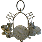 SOLD Antique English Silver Plated Breakfast Cruet by Mark Willis c.1880