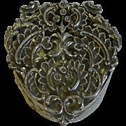 SALE Antique English Sterling Silver Pot Pourri Box by William Comyns