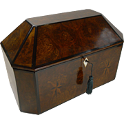 SALE Magnificent Large French Inlaid Walnut Jewelry Box c.1820