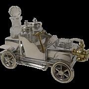 Rare Antique English Novelty Cruet In Silver Plate - Car - by William Briggs