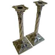 SALE Magnificent & Grand Antique English Silver Plated Candlesticks c.1870 by HAWKSWORTH, EYRE
