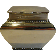 SALE Antique English Sterling Silver Tea Caddy - 1902