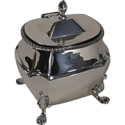 SALE Quality Antique English Sterling Silver Tea Caddy - 1901
