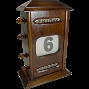 SALE Antique English Mahogany Perpetual Desk Calendar c.1900