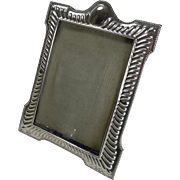 SALE Victorian English Sterling Silver Photograph Frame - 1899