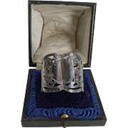 Stunning Antique English Sterling Silver Napkin Ring -1905