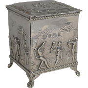 Magnificent Antique English Figural Tea Box / Caddy - 1900 by Thomas Hayes