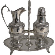 SALE Antique English Silver Plated Sugar and Cream Set by Roberts and Belk c.1880