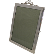 SALE Antique English Sterling Silver Photograph Frame by Stokes and Ireland