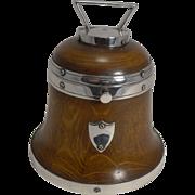 Antique Novelty English Bell Shaped Tea Caddy / Tobacco Box - Reg. 1857