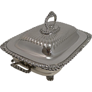 SALE Superb Antique Silver Plated Meat Entree Dish by Hukin and Heath c.1890
