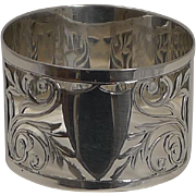SALE English Sterling Silver Napkin Ring - 1928