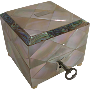 SALE Superb Antique English Mother of Pearl and Abalone Scent Bottle Box c.1860