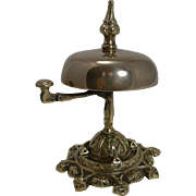 SALE Antique English Brass Desk / Counter Bell c.1870