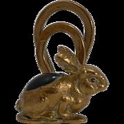 SALE Adorable Little Figural Menu Holder - Rabbit c.1900