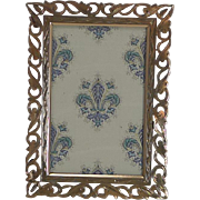 SALE Quality Antique Polished Brass Photograph Frame c.1880