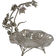 SALE Fine Quality English Silver Plated Grape Dish By Walker and Hall - 1899