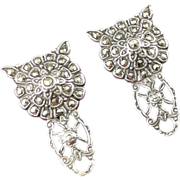 Art Deco Sterling & Marcasite Dress Clips