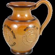 Antique Doulton Lambeth Money Motto Jug