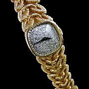 Vintage 14K Gold Diamond Longines Wittnauer Watch, Ladies Wristwatch
