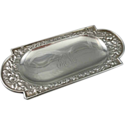 Antique Gorham Sterling Silver Repousse Pin Tray / Dish