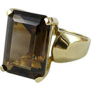 Vintage 10K Gold Smoky Quartz Ring - SKAL