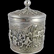 Dutch Silverplate Tea Caddy Herbert Hooijkaas, HH 90, Douwe & Egberts