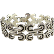 SALE Taxco Sterling Silver Bracelet by Jose Luis Flores