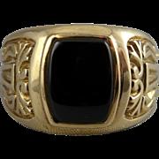 10K Gold & Onyx Ring - Men's