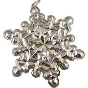 Gorham Sterling Silver Snowflake Christmas Ornament - 1971