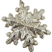 Gorham Sterling Silver Snowflake Christmas Ornament - 1973