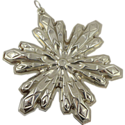 Gorham Sterling Silver Snowflake Christmas Ornament - 1974