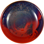 Royal Doulton Flambe Sung Footed Bowl - Fred Moore c. 1920's
