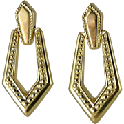 Vintage 14K Gold Michael Anthony Door Knocker Earrings