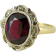Vintage Ruby & Diamond Ring in 10K Gold