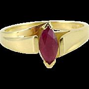 Modern Estate Ruby Ring Set in 14K Gold