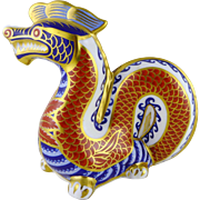 Royal Crown Derby Dragon Figurine / Paperweight