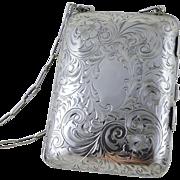 SOLD Vintage Sterling Silver Dance Purse / Necessaire c. 1920