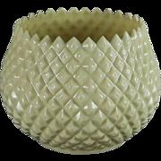 Vintage Belleek Diamond Flower Pot Or Vase 2nd Green Mark