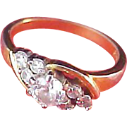 SALE REDUCED~Cubic Zirconia 18K Gold Plate Size 5 Ring