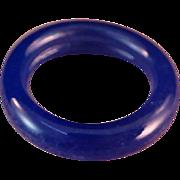 SALE ART DECO 1930's Periwinkle Blue Celluloid Ring ~ Size 6