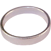SALE Charming Silver Plate Wedding Band