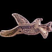 SALE Lovely EAGLE in FLIGHT~Trademark (Sprey Hotels) Gold Plate Brooch