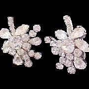 SALE Delizza & Elster JULIANA Diamante Silver Plate Ear Climber Clip Earrings
