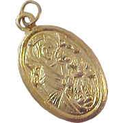 SALE OUR lady  of PERPETUAL HELP ~ Gold Plate Medal - Free Shipping USA