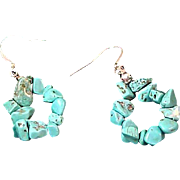 SALE Genuine  Turquoise Nuggets ~ Shepards Wire Earrings