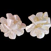SALE World War II ~ Mother-of-Pearl & Seed Pearl JAPAN Clip Earrings