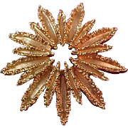 SALE Enchanting Luxurious AVON Starburst Gold Plate Brooch