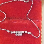 SALE Very Dainty Diamante & Silver Plate Bracelet