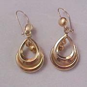 SALE FREE  Ship ~ Pear ~  Teardrop  Shape Open Gold Plate  Earrings